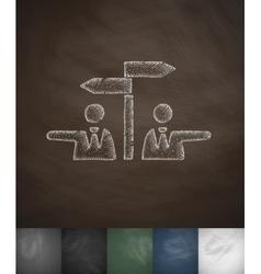 Controversy icon hand drawn vector