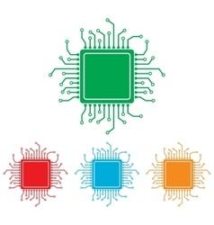 CPU Microprocesso vector image vector image