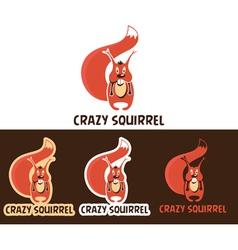 Crazy Squirrel Cartoon Character vector image