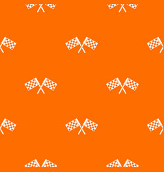 Crossed chequered flags pattern seamless vector
