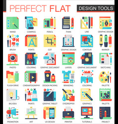 design interface tools complex flat icon vector image vector image