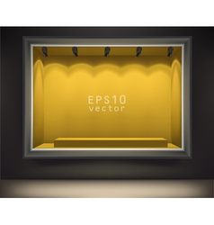 Empty front display vector image vector image