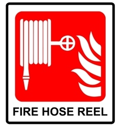 Fire hose reel sign vector image