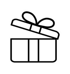 Gift box present ribbon valentine day outline vector