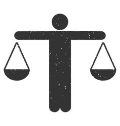 Judge person icon rubber stamp vector