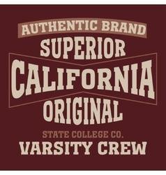 Los angeles california typography vector