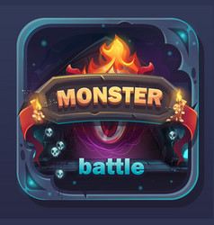 Monster battle gui icon vector