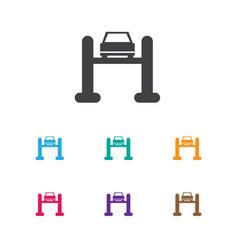 Of transport symbol on vector