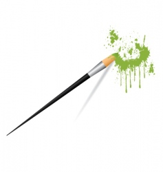 paint brush painting stains vector image