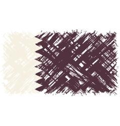 Qatari grunge flag vector image