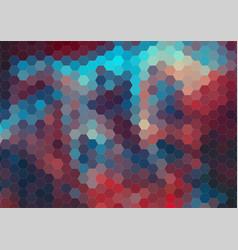 Retro color hexagram pattern of geometric shapes vector