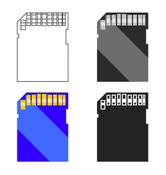 Sd card icon in cartoon style isolated on white vector