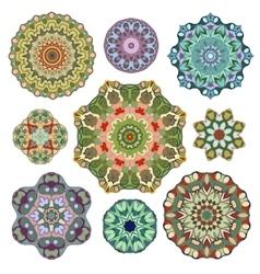 Set of abstract circular element vector image