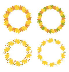 set of autumn frames vector image