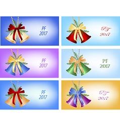 Set of six congratulation card to christmas vector