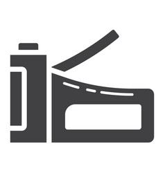 Staple gun glyph icon build and repair stapler vector