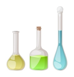 Lab flask set vector