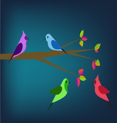 Birds in the spring vector image