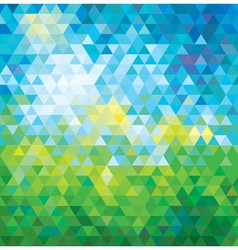 Abstract mosaic summer background vector
