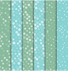 Seamless polka dot patterns background vector