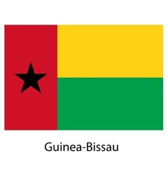 Flag of the country guinea bissau vector