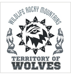North american designs - wolves vector