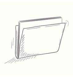 Sketched full folder desktop icon vector