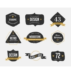 Hand drawn vintage retro labels and logo vector