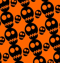 Skull pattern halloween vector
