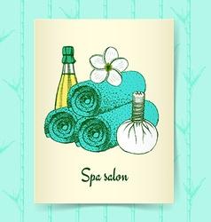 Sketch spa poster vector image