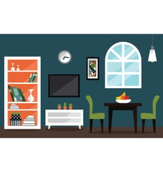 Living room interior decoration design vector