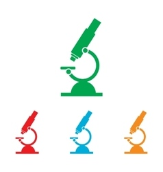 Microscope sign colorfull set vector