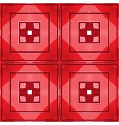 red tile seamless pattern vector image