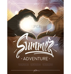Tropical summer adventure signs vector image