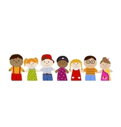 Muli-racial children set vector
