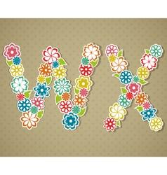 Floral alphabet vector