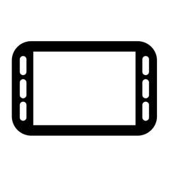 Horizontal modern cellphone icon vector