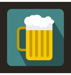 Beer mug icon in flat style vector image