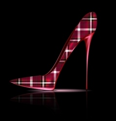 big plaid shoe vector image vector image