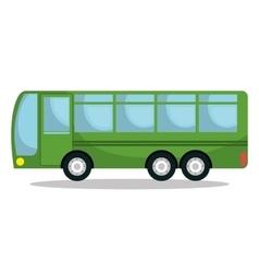 Bus service public isolated icon design vector