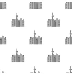 Canadian skyscraper canada single icon in vector