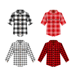Cheskered shirt isolated vector