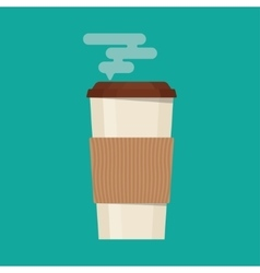 Coffee cup in flat style vector image vector image