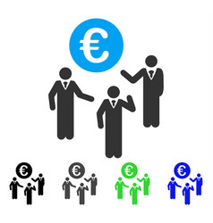 Euro discussion flat icon vector