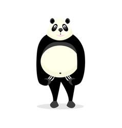 Funny bear panda vector
