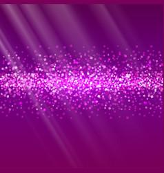 Glitter and bright sand dark background vector