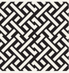 Interlacing lines maze lattice ethnic monochrome vector