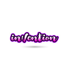 Invention calligraphic pink font text logo icon vector