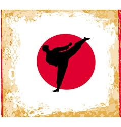 karate Grunge poster vector image