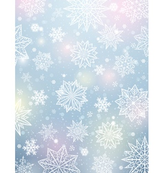 Light background with snowflakes and stars vector
